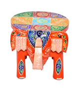 Multi Color Wood Home Decor Stool Elephant Shape Decorative Baby Sitter ... - $48.95