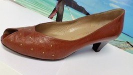 On Shoes BRUNO Slip Womens Heels 8AA Leather MAGLI Brown Vero Cuoio Pumps PPfwRxSza