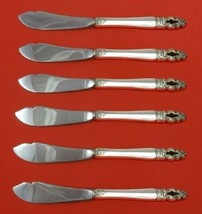 Sovereign-Hispana By Gorham Sterling Silver Trout Knife Set HHWS 6pc Custom - $418.10
