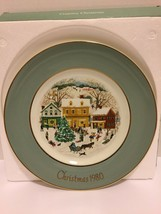 1980 AVON Country Christmas 8.75'' Collector's Plate with Box Complete - $14.84