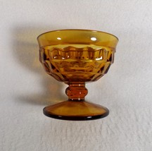 Vintage Amber Glass DESSERT/FRUIT/ICE Cream Footed CUPS-COLONY?-8 Available - $5.95