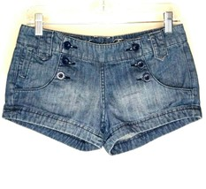 American Eagle Jean Shorts Size 2 Blue Denim Button Front Both Sides Wai... - $16.99