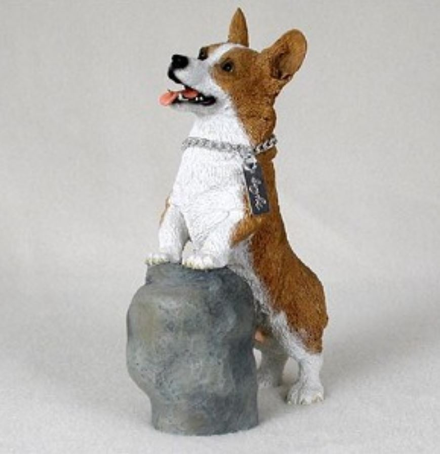 CORGI PEMBROKE  MY DOG Figurine Statue Pet Lovers Gift Hand Painted