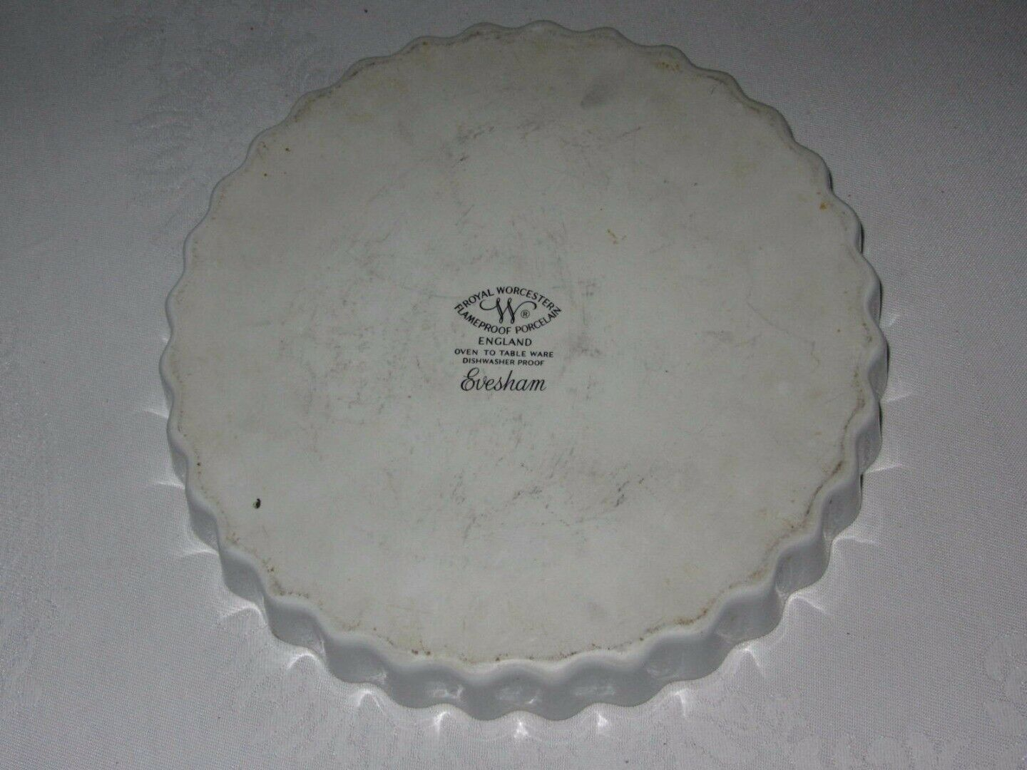 """Royal Worcester Quiche Pie Tart Pan Vintage Oven to Table Baking Evesham 10"""""""