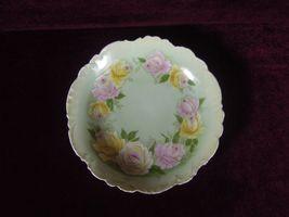 Antique P T Germany Porcelain Plate Roses - $39.20