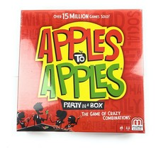 Apples to Apples Mattel Party in a Box Card Game New In Box- Sealed - $15.06