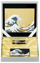 Maki-e Urushi Japanese Stationary set Wave Mouse pad USB Drive Card case... - $190.39