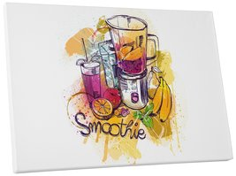 "Pingo World 0718QNBNTNG ""Smoothie Kitchen"" Gallery Wrapped Canvas Wall Art, 20""  - $42.52"