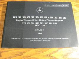 Mercedes-Benz Type 300 SDL 420 SEL 560 SEL Parts Catalog Manual 1986 - 1... - $102.17