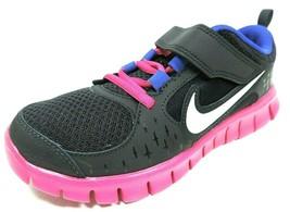 Nike Free Run 3 PSV 512100 004 Little Girls Shoes Running Black Mesh Bla... - $34.99