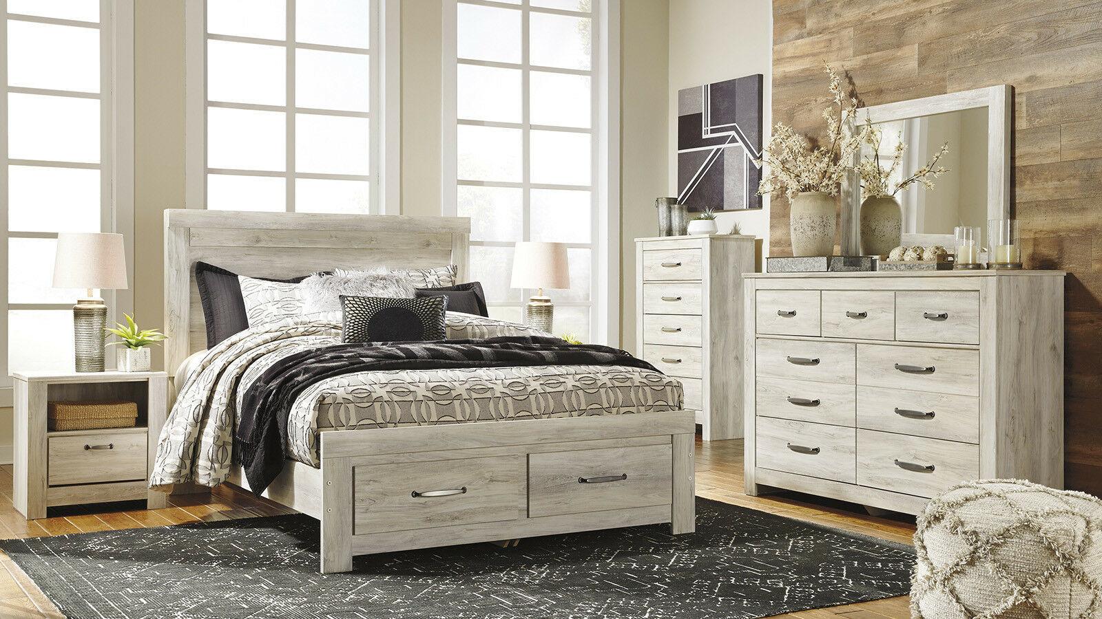 New modern off white furniture morwin 5pcs queen - White queen platform bedroom set ...