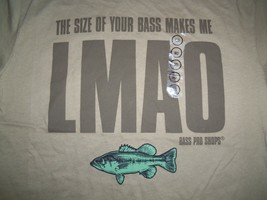 """NWT """"The Size of Your Bass Makes Me LMAO"""" Bass Pro Shops Graphic Print T Shirt M - $19.30"""