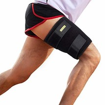 Thigh Support, Thigh Brace Hamstring Wrap Adjustable Compression Sleeve ... - $18.28