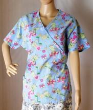 Carol's Scrubs Froggie Women's Scrub Top Size M - Cotton Blend - Super C... - $14.01