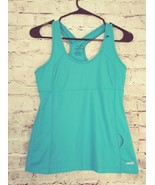 Women's Avia blue sleeveless support bra tank athletic top size small - $9.49