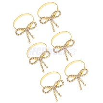 6x Bowknot Napkin Ring Serviette Buckle Holder Wedding Banquet Dinner Decor - $18.99
