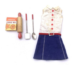 1965-66 Skipper Outfit #1912 Cookie Time W Utensils & Cookie Mix! Barbie Sis - $39.60