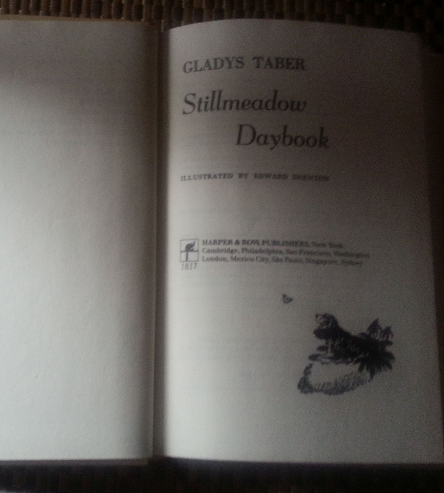 Stillmeadow Daybook by Gladys Taber 1983 HBDJ Home in Connecticut