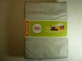 Circo Fitted Crib Sheet Gray White Zigzag Chevron Toddler Bed cotton new #1136 - $16.82