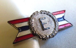 VTG WW2 Army-Navy Production E Award Pin Sterling Silver Red White Blue Enamel - $44.55