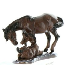 Hagen Renaker Specialty Horse Mustang Mare with Colt Ceramic Figurine image 10