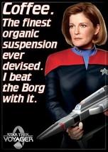 Star Trek Voyager Janeway Coffee Quote Image Refrigerator Magnet, NEW UNUSED - $3.99