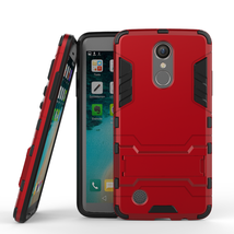 with Built-in Kickstand Case Cover For LG Aristo / K8 2017  / LV3 MS220 ... - $4.99