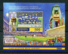 Soccer Stamps Armenia 2016 MNH Boca Juniors Intercontinental Football Cu... - $9.05