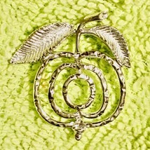 """Sarah Coventry """"Saucy"""" Book Piece Apple Brooch Pin - $13.36"""