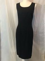 Oleg Cassini Sheath Black Midi Sleeveless Dress Size M - $88.11