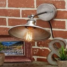 Rustic Metal Wall Lamp, Silver - $14.99
