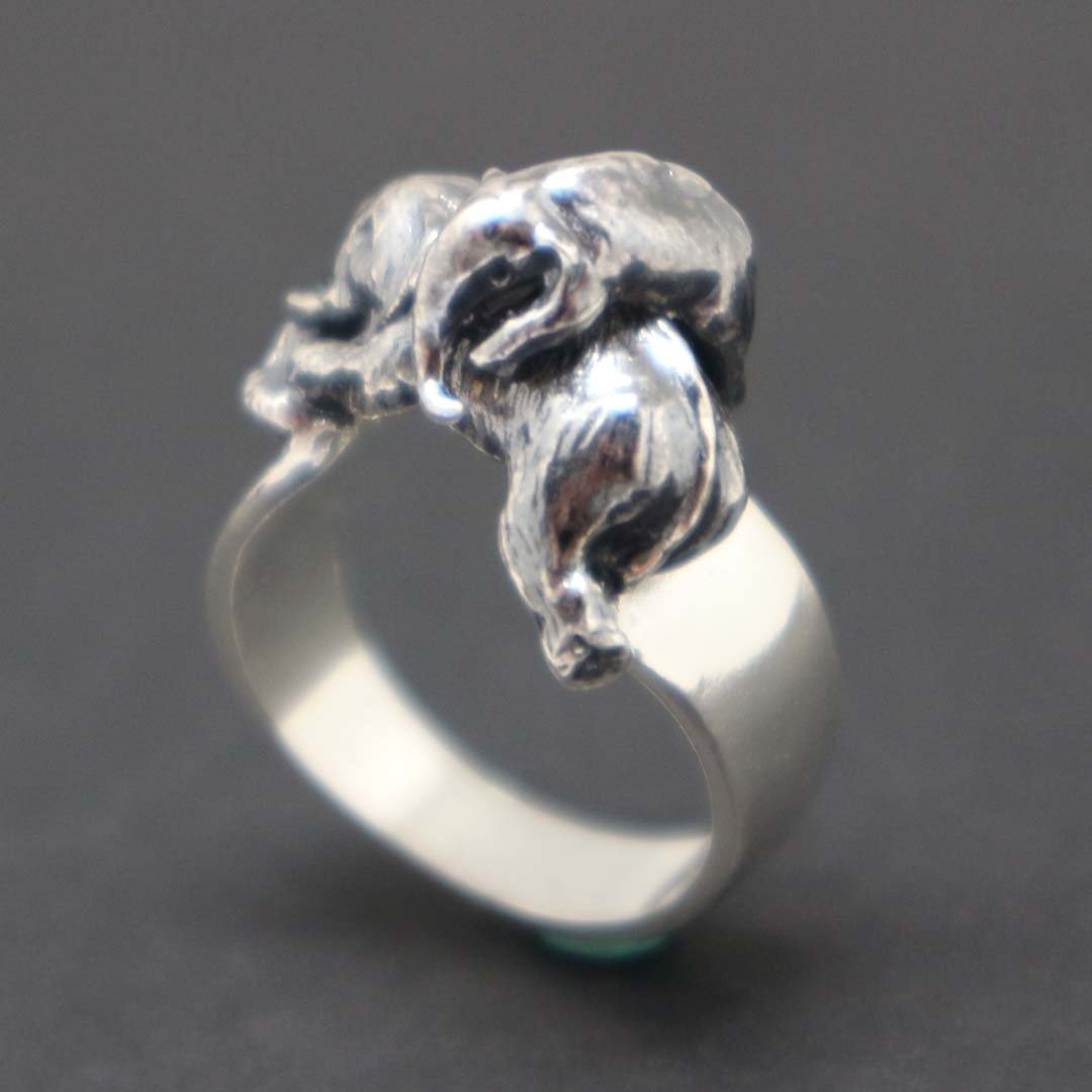 Mother and Child Elephant Bonding Ring