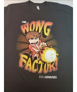 THE WONG FACTORY! EVIL GENIUS Men's black T Shirt size large (#5) - $15.00