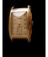 1930s Mens Gruen watch - curved guildite - antique watch -  vintage wris... - $125.00