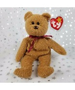 "Vintage Original TY Beanie Baby-Curly Bear-Brown 8.75""-NWT & Plastic Cov... - $41.58"