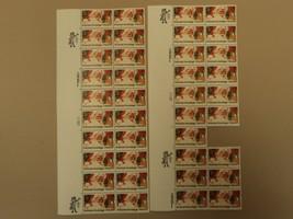 USPS Scott 2064 20c 1983 Seasons Greetings Santa Lot of 2 Plate Block Mi... - $29.03