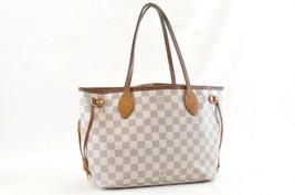 LOUIS VUITTON Damier Azur Neverfull PM Tote Bag N51110 LV Auth yy558 - $450.00
