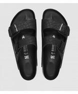 Birkenstock Womens Arizona Mono Croc Black Hex Embossed Leather Sandals ... - £115.93 GBP