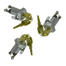 3 Pc ALCO SKF SPST key switch trated 4A @ 125VAC - $24.00