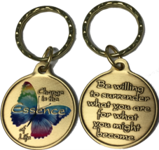 Change Essence of Life Color Butterfly Surrender Keychain Bronze  Key Chain - $16.99