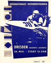 1957 Dresden International Motor Boat Race - Program Cover Poster - $9.99+