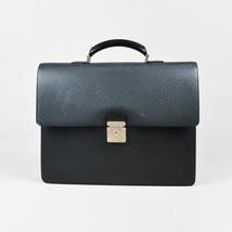 "Louis Vuitton Black ""Taiga"" Leather ""Robusto 1 Compartment"" Briefcase - $740.00"
