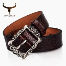 COWATHER® Genuine Leather Belt For Women Luxury Strap Female Belt Cashew... - $14.70+