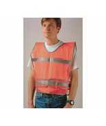 Orange/Silver, Traffic Vest, Over-the-Head, Universal Military Version - $13.95