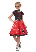 California Costumes Child's 50's Sweetheart Costume, Red/Black, Medium - £30.52 GBP