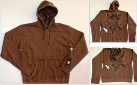 Buckley Bay Men's Thermal Lined Hoodie Zip Front Mid-Weight Fall Spring ... - $29.59