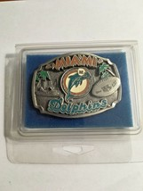 Miami Dolphins Football Belt Buckle Limited Edition Of 10,000 No Number New - $13.86