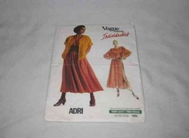 Adri Individualist VOGUE Pattern 1985 Jacket Top And Skirt Size 14 - $13.94