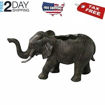 Laid Back Elephant Plant Stand Pot Home Decor, Small, Flower Holder, Bla... - $33.46