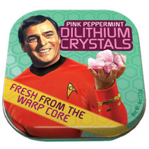 Classic Star Trek Dilithium Crystals Mints in Illustrated Tin Box NEW SE... - $3.99